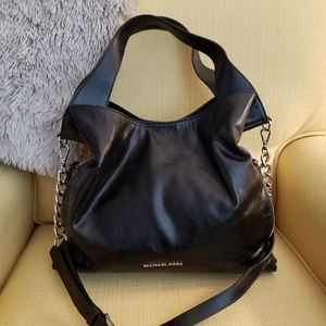 Michael Kors Black Leather Convertible Satchel